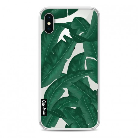 Casetastic Softcover Apple iPhone X / XS - Banana Leaves